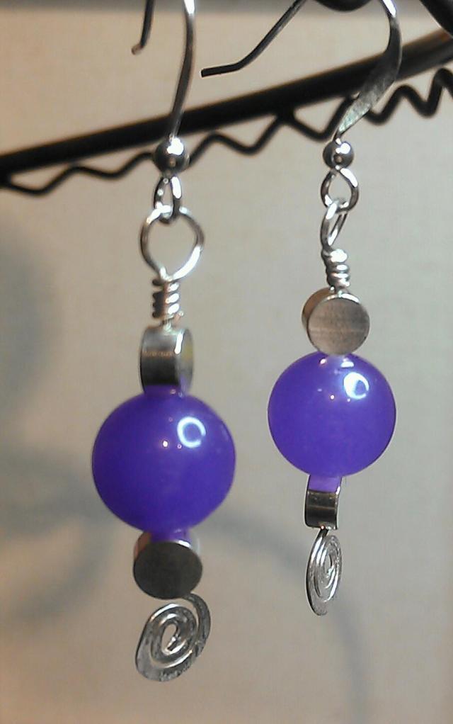 Custom Order:  Funky Purple Dangles